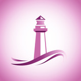 Vector Vector logo pink lighthouse