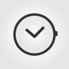 Watch icon, flat design