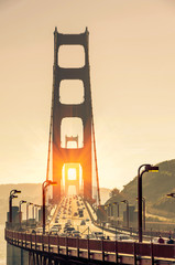 Golden Gate Bridge - San Francisco at Sunset