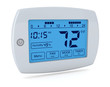 canvas print picture - digital thermostat
