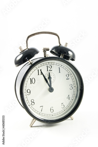 o'clock on white background, five to twelve o'clock