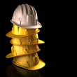 Hard hat boss. Clipping path included.