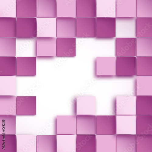 Vector Abstract pink Squares Background
