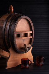 barrel of liquor.