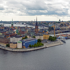 Stockholm, Sweden. View of the city from the Town Hall tower