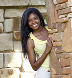 Fototapety Beautiful African-American Teenage Girl