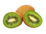 Ripe kiwi taken closeup.Isolated.