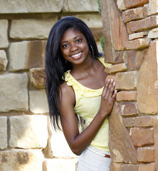 Beautiful African-American Teenage Girl