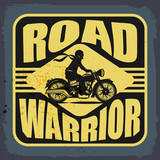 Vintage Motorbike label, vector illustration