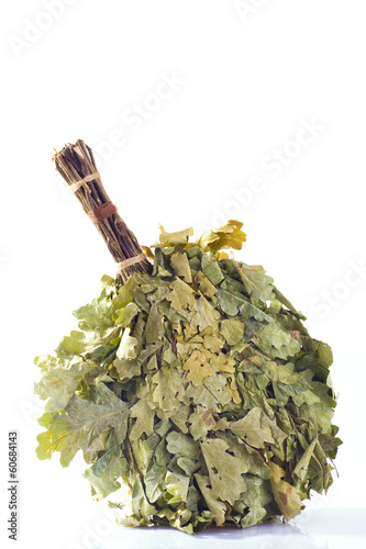 Oak broom isolated