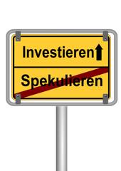 Investieren vs. Spekulieren