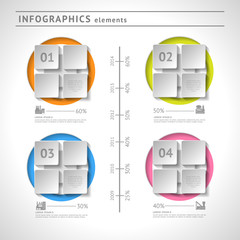 Business infographics elements. Modern design template