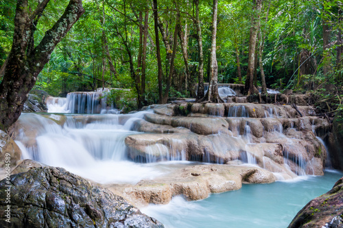Erawan water fall in Thailand