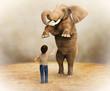 Elefante adiestrado