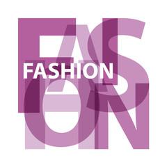 Vector Fashion. Violet Broken text