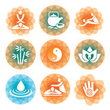 Fototapety Massage spa symbols backgrounds