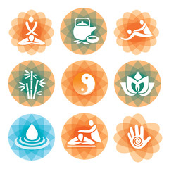 Massage spa symbols backgrounds