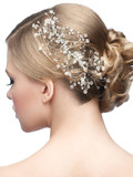 Fototapety Hairstyle with hair accessory