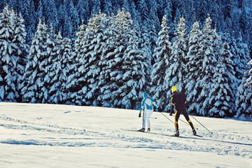 Langlauf in den Alpen - Schweiz