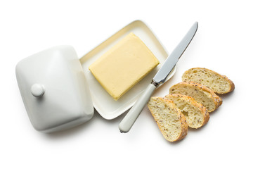 butter with sliced bread