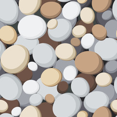 Seamless background with stones. Vector illustration.