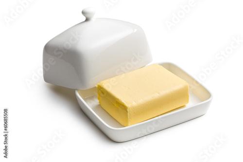 Staande foto Zuivelproducten cube of butter
