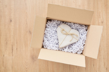 Send Love by Mail - Heart in a Parcel