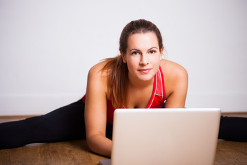 Young woman using her laptop