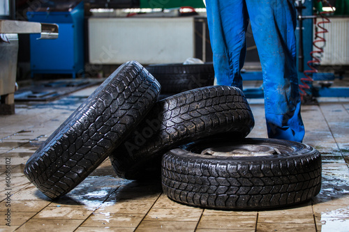 carrying tires