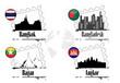 4 villes asiatiques