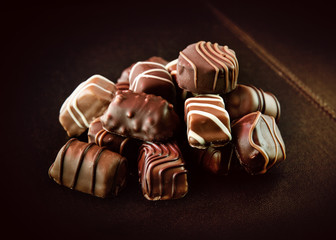 Cioccolatini variegati assortiti