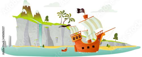 """""""ile Pirate"""" Fichier Vectoriel Libre De Droits Sur La Banque D'images Fotolia.com"""