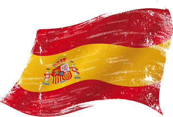 Spanish flag grunge