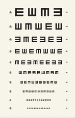 Vintage Eye Chart Acuity Test Light
