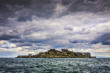 Battleship Island off the coast of Nagasaki, Japan