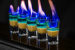 Shots with absent in nightclub