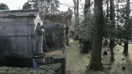 abandoned cemetery in Viggiu, Italy