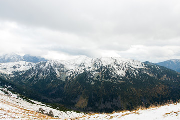 Polish Tatra mountains in the snow