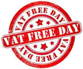 Vat free day stamp