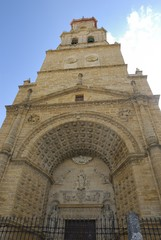 Tower church in Utrera, Andalusia, Spain