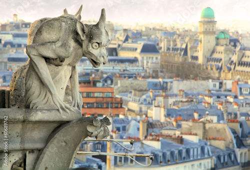 gargoyle over the Paris