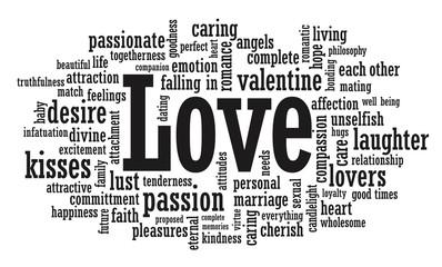 Love word cloud illustration