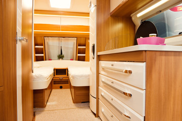 Bedroom Interior of Mobile Home