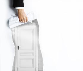 page to door