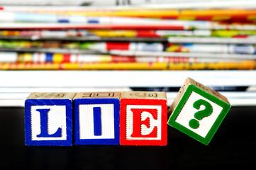 Lie ? word