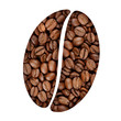 Coffee bean symbol