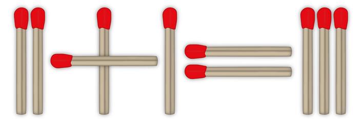 Mathe mit Streichhölzern