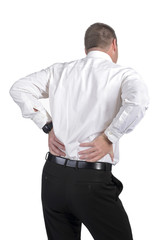 Geschäftsmann hat Rückenschmerzen