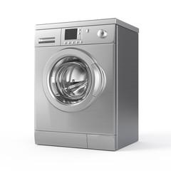 Washing machine isolated on white - 3d render