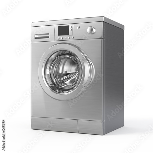 Washing machine isolated on white - 3d render - 60691599